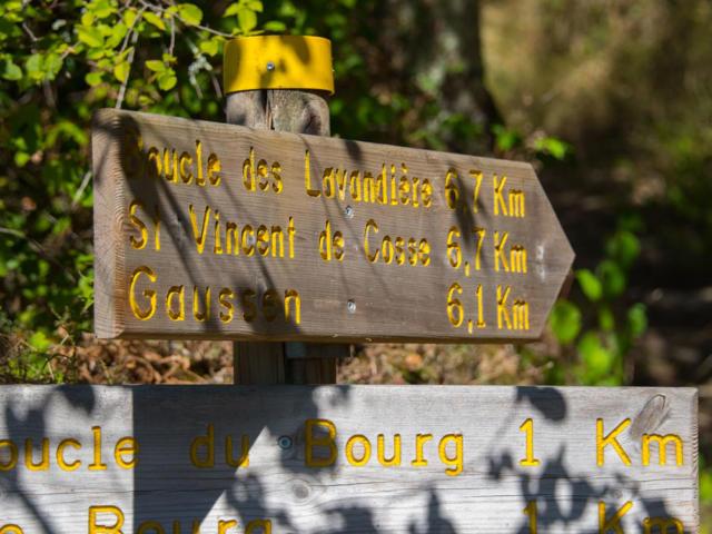 Chemins de randonnée à Saint Vincent De Cosse