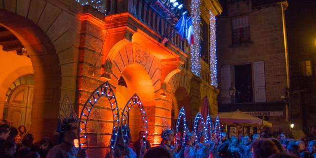 le Père Noël au Marché de Noël de Sarlat
