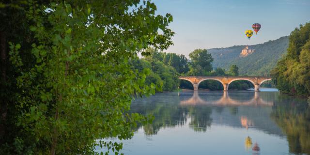 Montgolfières sur la Dordogne