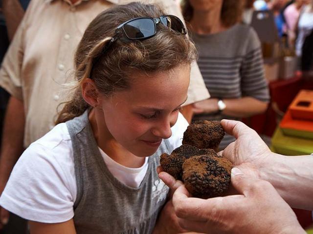 Animations pendant la fête de la truffe à Sarlat