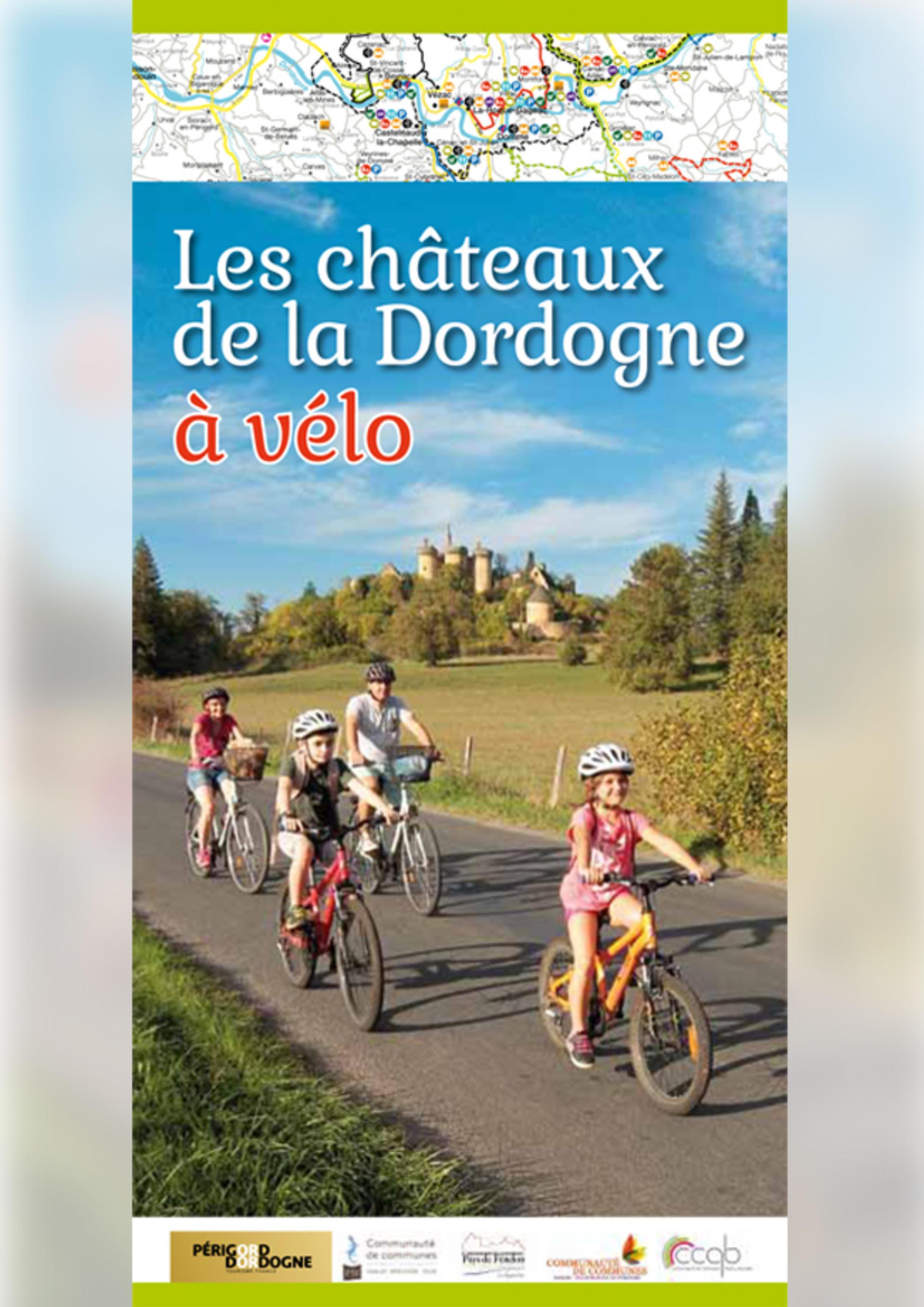 Carte des châteaux de la Dordogne à vélo