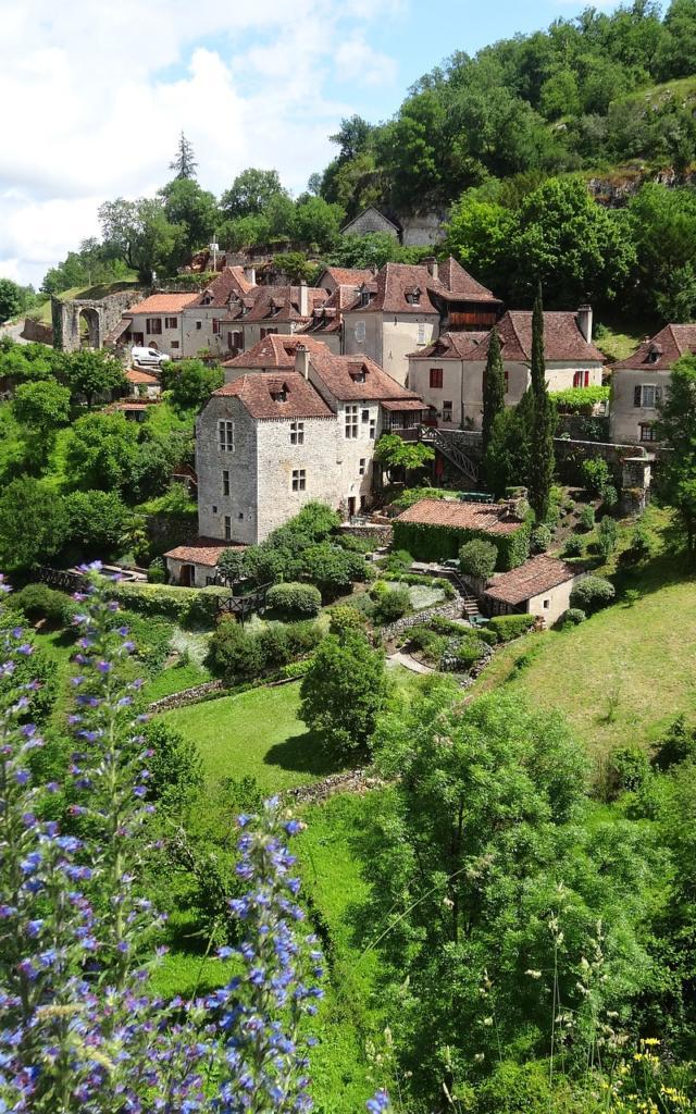 Village de Saint Cirq Lapopie, vallée de la Dordogne Lotoise