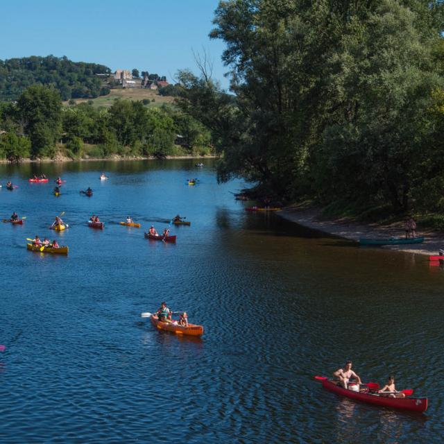 Canoe sur la Dordogne