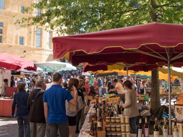 Journée groupe Sarlat et son marché.