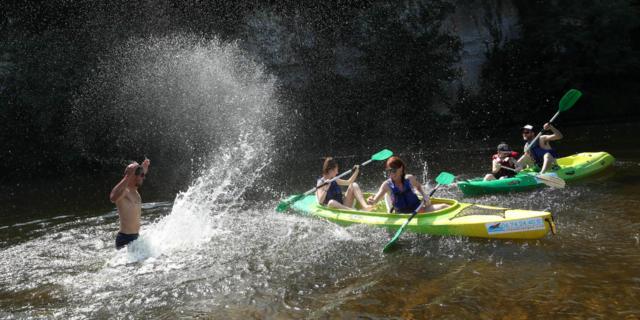 Descente en canoë sur la Dordogne