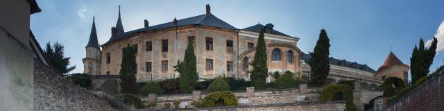 Vue du château de Gaillon en Seine-Eure en Normandie