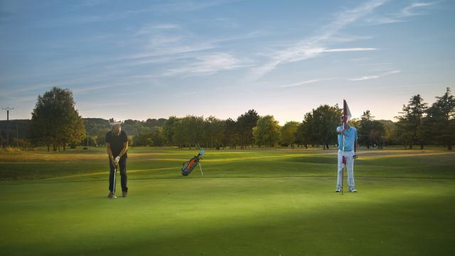 Sérénité du green au golf de Gaillon