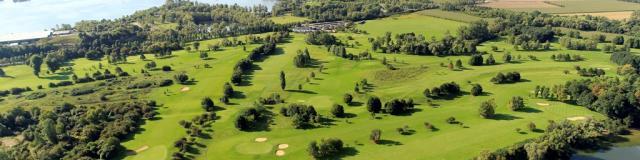 Vue aérienne du golf de Léry-Poses