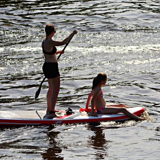Balade à deux en paddle