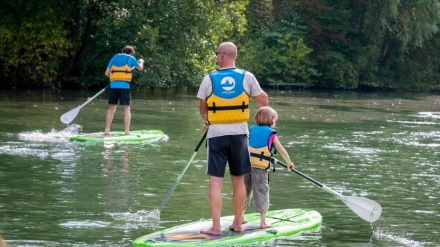 Stand-up-paddle sur l'Eure