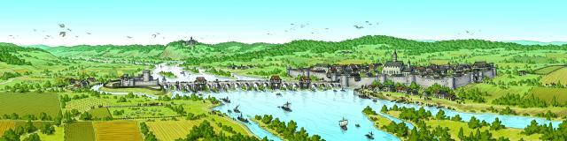 Évocation Pont De L'arche Médiévaleche Medieval