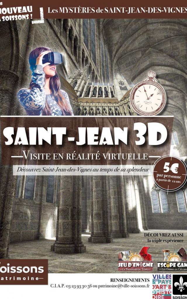 Visite en réalité virtuelle < Abbaye Saint-Jean-des-Vignes < Soissons