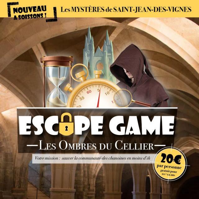 Escape game < Abbaye Saint-Jean-des-Vignes < Soissons