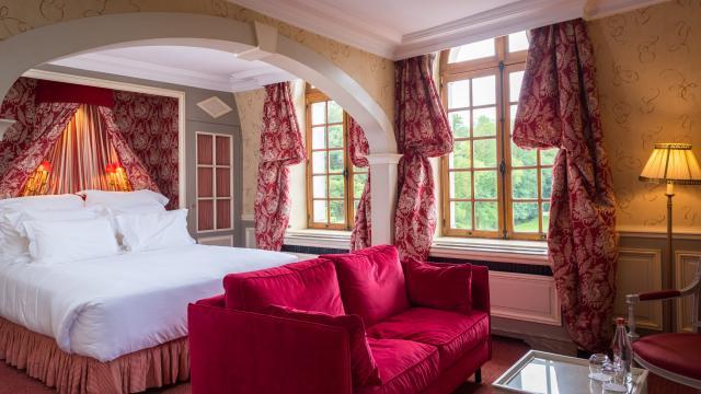 Prestige vue sur la chambre Alantreibecq < Château de Courcelles