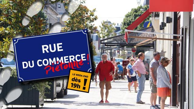 Rue piétonne - Rue du Commerce < Soissons