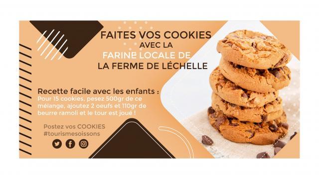 Recette de cookies < La Ferme de Léchelle < Berzy-le-Sec