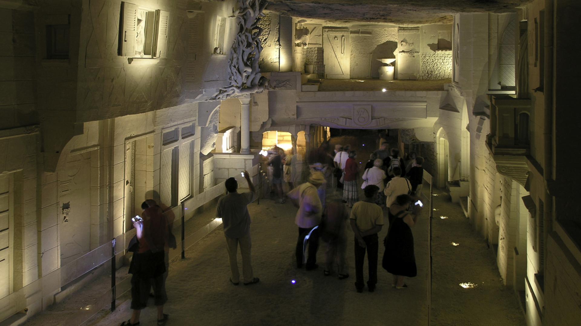 ville souterraine à Bourré en Sud Val de Loire