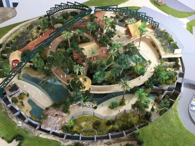 Zoo de Beauval Dôme Équatorial maquette