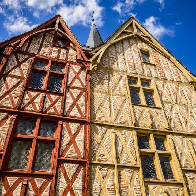 Maisons à colombages dans la Cité de Montrichard Val de Cher