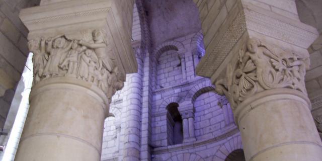 Colonnes Triforium - Collégiale de Saint-Aignan