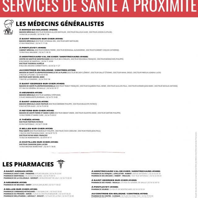 Services de santé en Sud Val de Loire