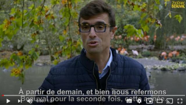 Video Beauval Fermeture Novembre2020 Confinement