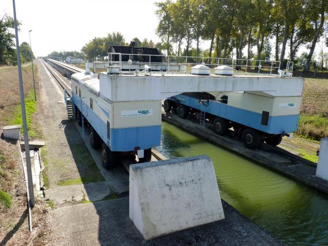 Fonctionnement de la pente d'eau de Montech