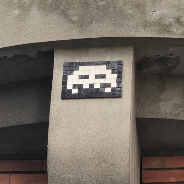 Street Art à Montauban - œuvre de Space Invider