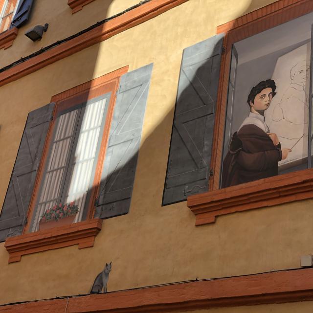 Street Art Montauban-Ingres en trompe l'oeil