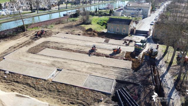 L'esplanade prévue proche de la pente d'eau en février 2020
