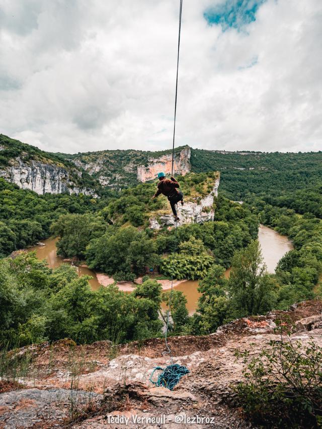 Escalade Saint Antonin Tarn et garonne
