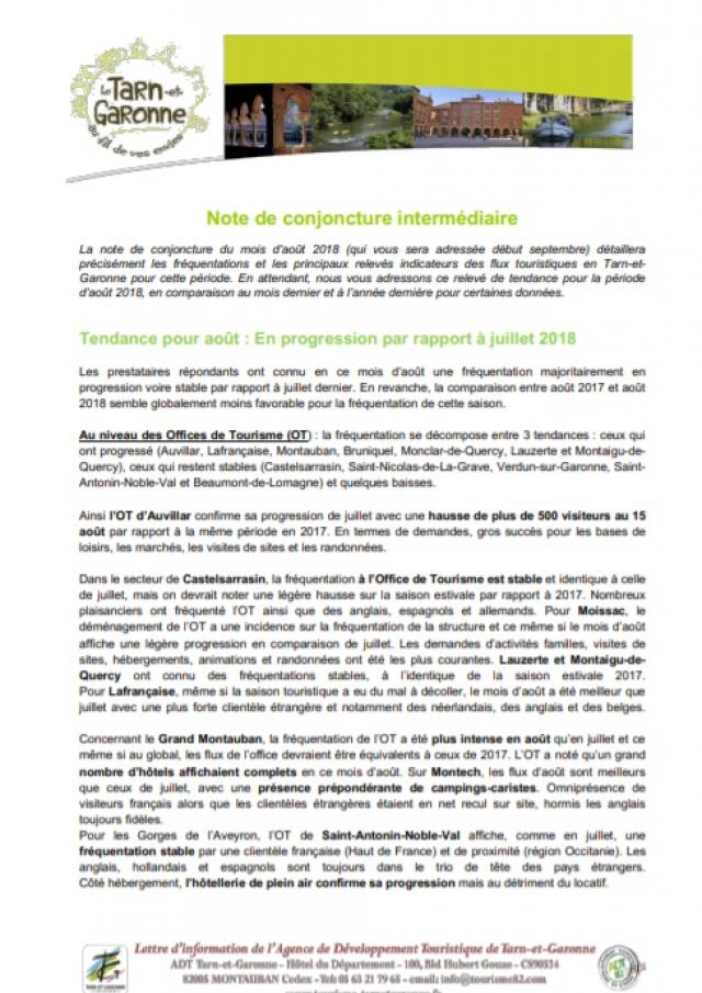 Note Conjoncture 2018 Aout