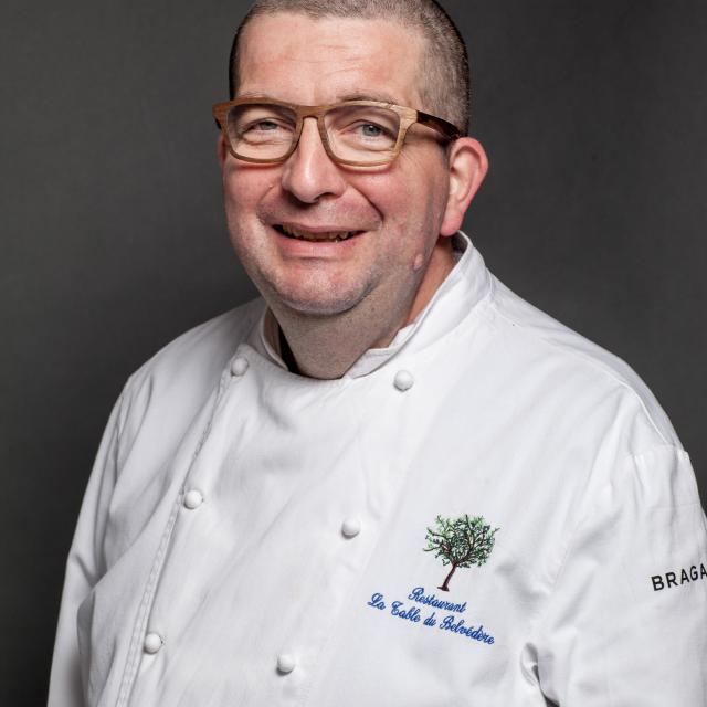 Stéphane Cornu, chef du restaurant de la Table du Belvédère à Lauzerte