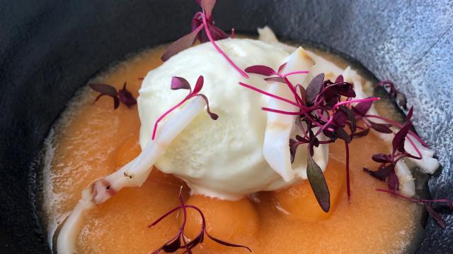 Dessert à base de melon Auberge de Bardigues