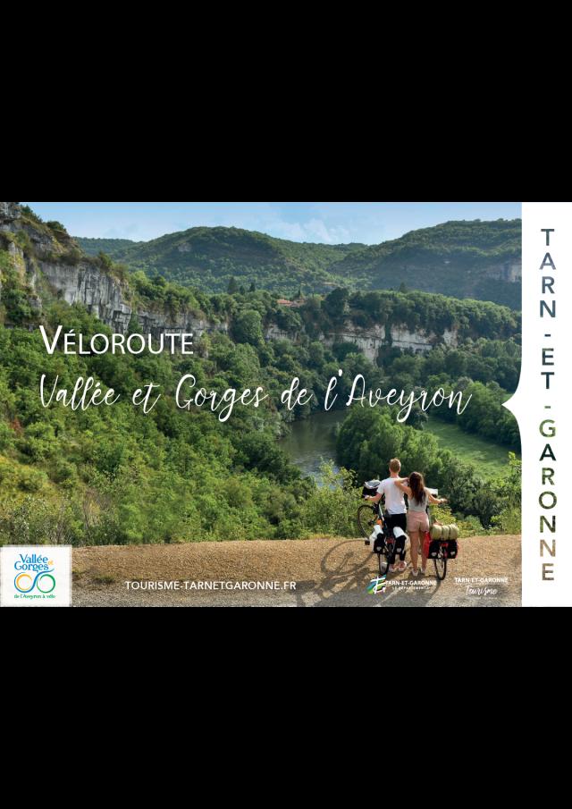 Carte Veloroute vallée et gorges de l'Aveyron 2021