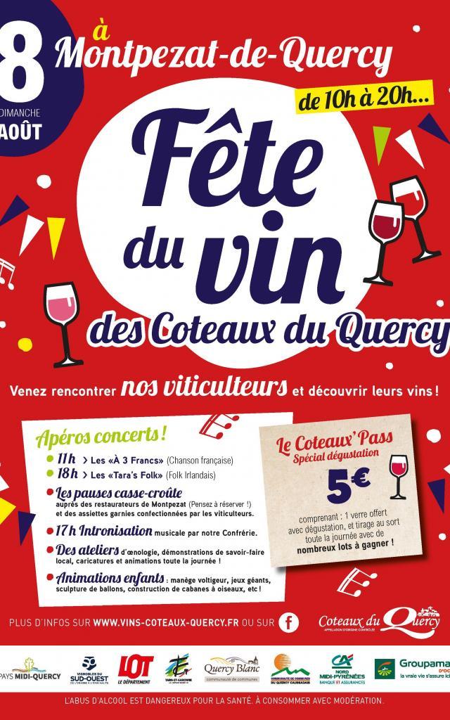 Affiche Fête Des Vins Coteaux Du Quercy