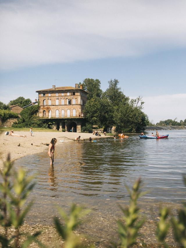 Baignade aménagée à la plage d'Ardus