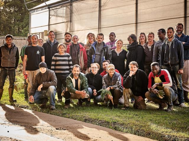Equipe des Jardins de Cocagne de Limon 2020 - Vauhallan