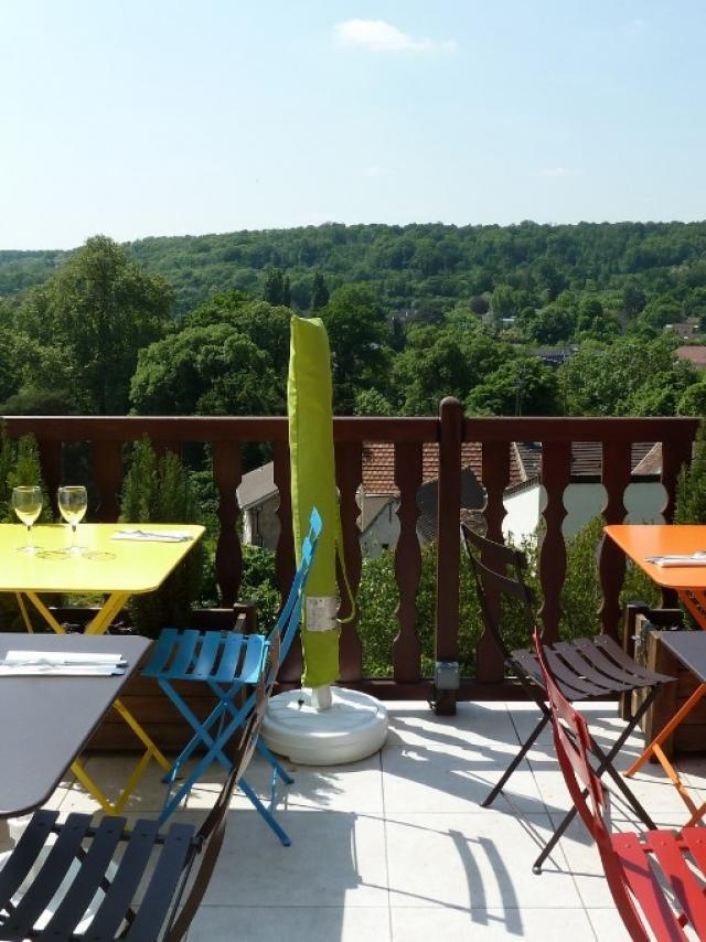 Terrasse panoramique de la librairie restaurant Millefeuille