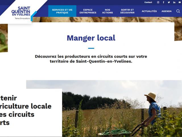 Manger local à Saint-Quentin-en-Yvelines