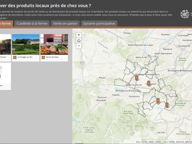 Carte Manger Local Versailles Grand Parc