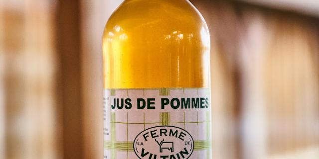 Jus de pomme en bouteille - Ferme de Viltain - Produits locaux - Plateau de Saclay