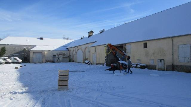 Ferme Vandame sous la neige
