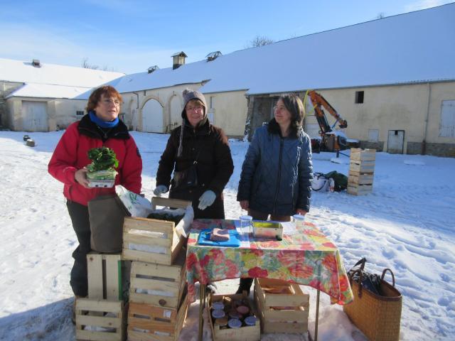 AMAP Jardins de Cérès sous la neige - Produits locaux