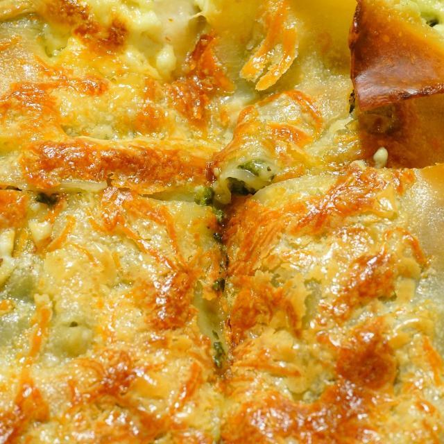 Gratin de patates douces et poireaux