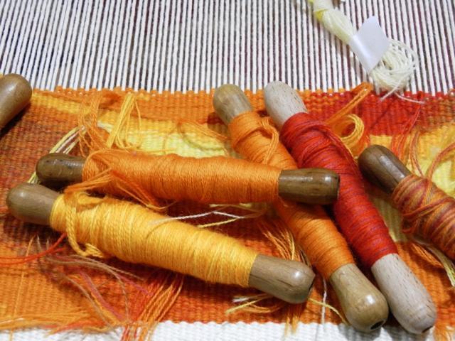 Tapisserie d'Aubusson, flutes de laine