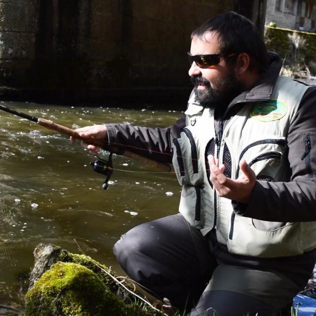 Jean-Christophe Guittard, moniteur guide de pêche