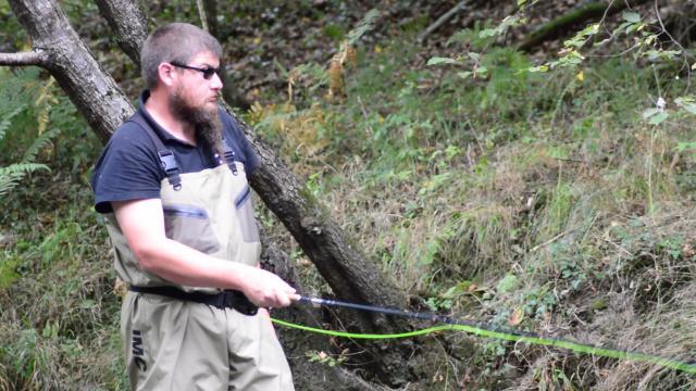 Julien, Pêche à la mouche en Creuse