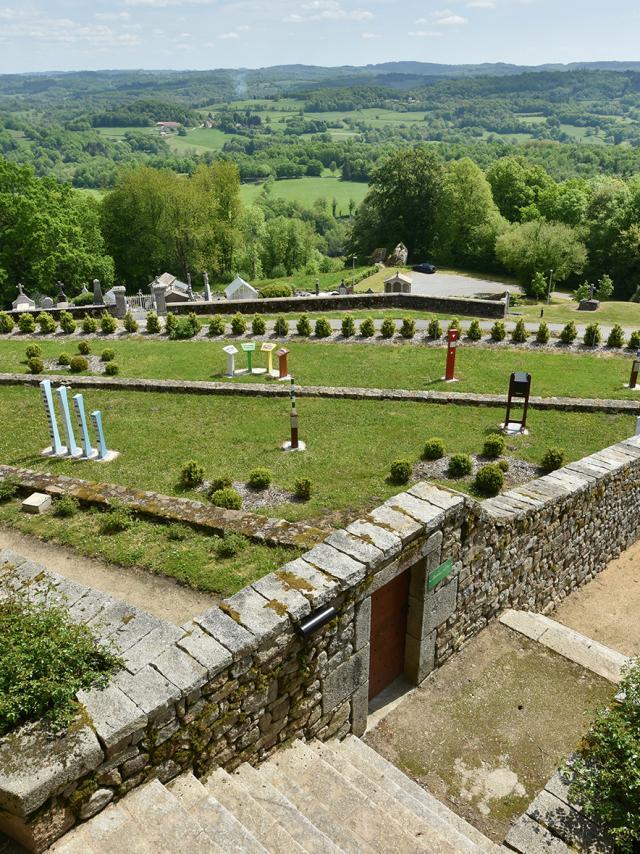 Jardins terrasses à Saint-Georges-Nigremont