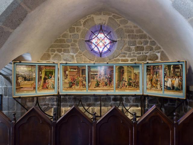 Triptyque de Saint Eloi - Notre Dame de la Visitation à Crocq dans la Creuse